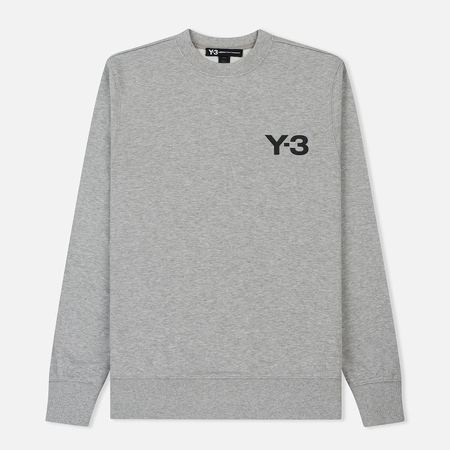 Мужская толстовка Y-3 Classic Crew LF Medium Grey Heather