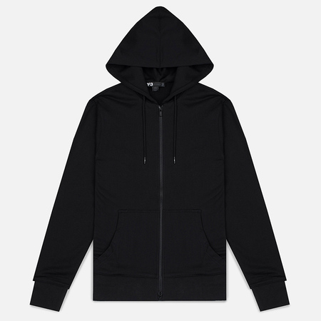Y-3 Classic Fit Logo Full Zip Men's Hoody Black