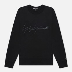 Мужская толстовка Y-3 Distressed Signature Crew Black