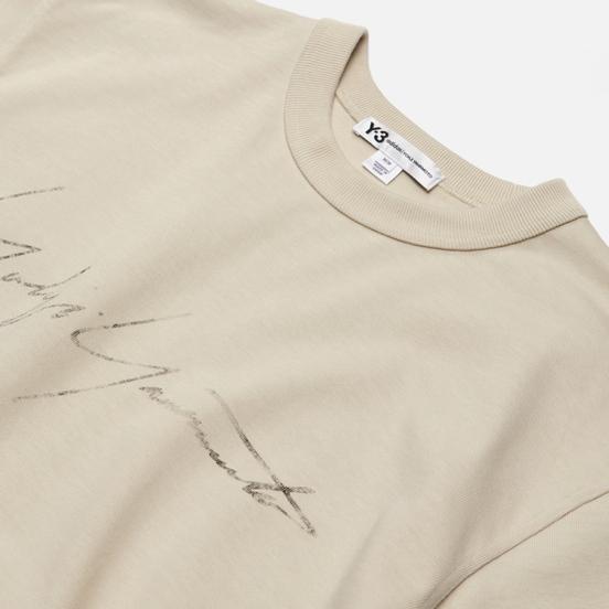 Мужская толстовка Y-3 Distressed Signature Crew Ecru