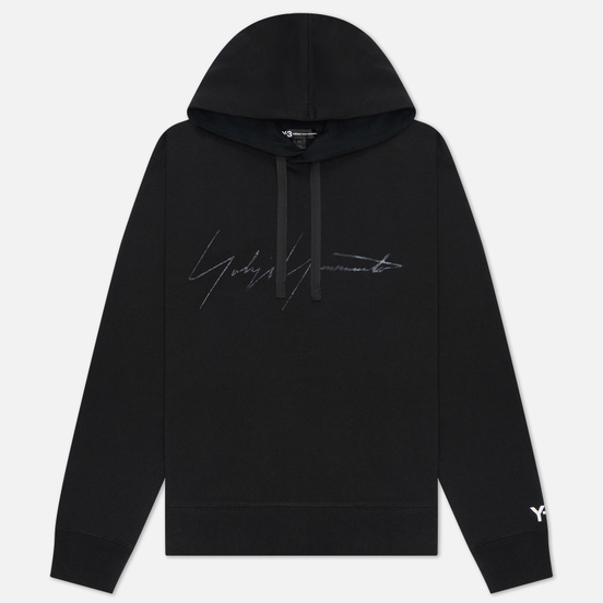 Мужская толстовка Y-3 Distressed Signature Hoodie Black