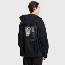 Мужская толстовка Y-3 Yohji Skull Hoodie Black фото- 4