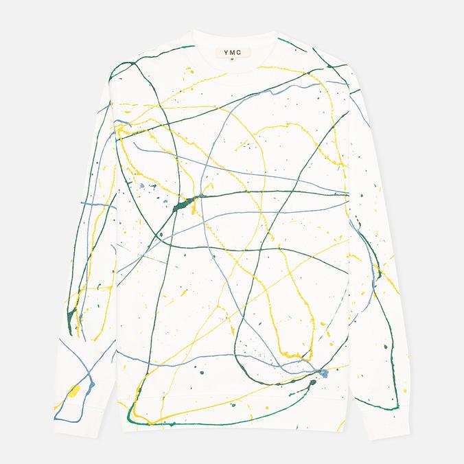 YMC Flick Paint Men's Sweatshirt White