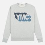 Мужская толстовка YMC Shadow Logo Grey фото- 0