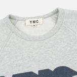 Мужская толстовка YMC Shadow Logo Grey фото- 1