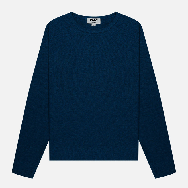 Мужская толстовка YMC X Solid Reverse Side Jersey Blue