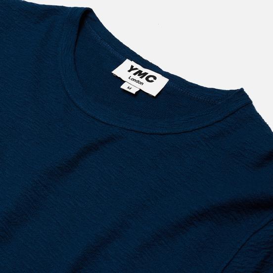Мужская толстовка YMC X Solid Reverse Side Jersey Blue