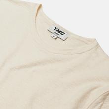 Мужская толстовка YMC X Solid Reverse Side Jersey Ecru фото- 1