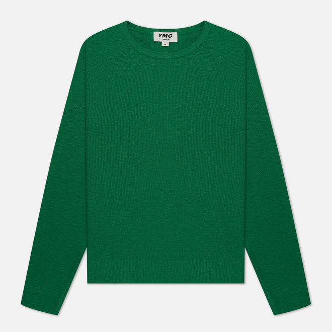 Мужская толстовка YMC X Solid Reverse Side Jersey Green