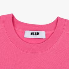 Мужская толстовка MSGM Micro Logo Print MSGM Fuchsia фото- 1