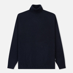 Мужская водолазка Barbour Leahill Roll Neck Navy фото- 0