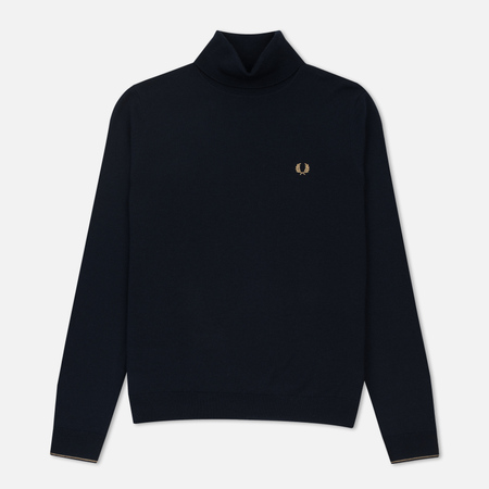 Мужская водолазка Fred Perry Classic Merino Roll Neck Knit Dark Carbon