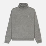 Мужская водолазка Fred Perry Classic Merino Roll Neck Knit Steel Marl фото- 0