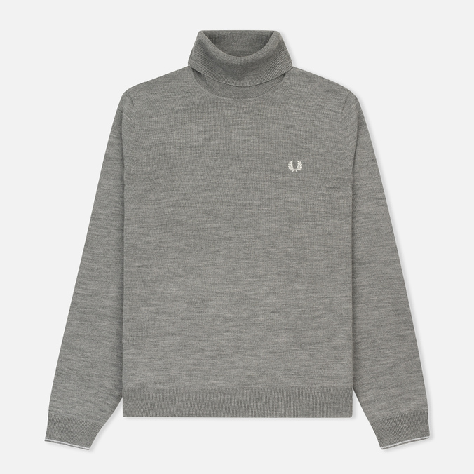 Мужская водолазка Fred Perry Classic Merino Roll Neck Knit Steel Marl