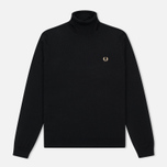 Мужская водолазка Fred Perry Merino Roll Neck Black фото- 0