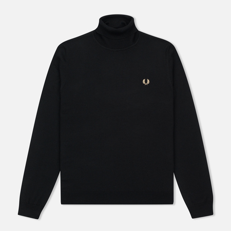 Мужская водолазка Fred Perry Merino Roll Neck Black