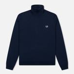 Мужская водолазка Fred Perry Merino Roll Neck Carbon Blue Marl фото- 0