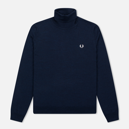 Мужская водолазка Fred Perry Merino Roll Neck Carbon Blue Marl