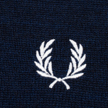 Мужская водолазка Fred Perry Merino Roll Neck Carbon Blue Marl фото- 3