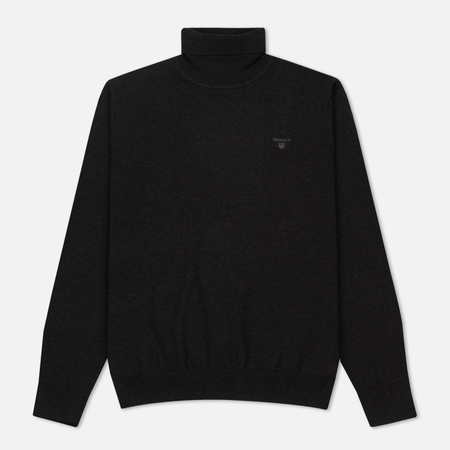 Мужская водолазка Gant Basic Lightweight Cotton Turtle Neck Dark Charcoal Melange