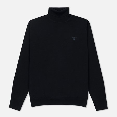 Мужская водолазка Gant Basic Lightweight Cotton Turtle Neck Navy