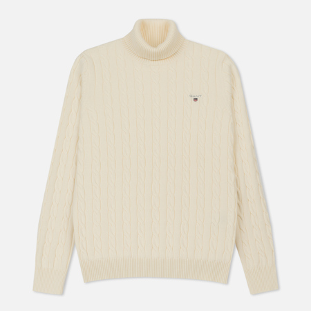 Мужская водолазка Gant Original Cotton Cable Turtle Neck Cream