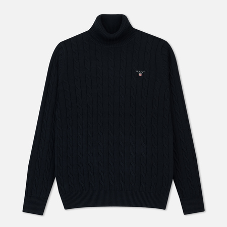 Мужская водолазка Gant Original Cotton Cable Turtle Neck Evening Blue