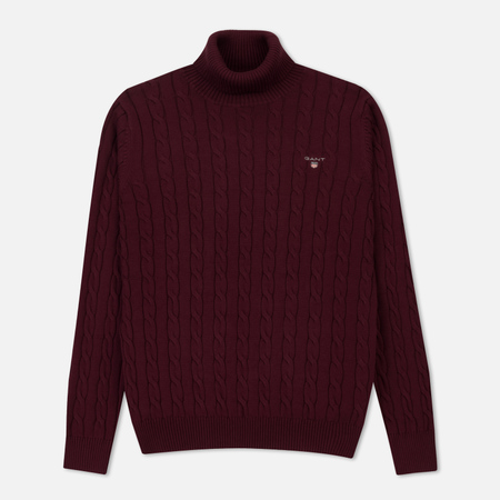 Мужская водолазка Gant Original Cotton Cable Turtle Neck Purple Wine