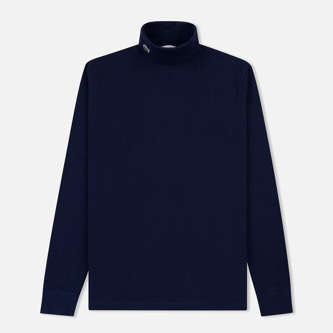Мужская водолазка Lacoste Turtleneck Cotton Pique Navy Blue