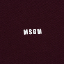 Мужская водолазка MSGM Micro Logo Burgundy фото- 2