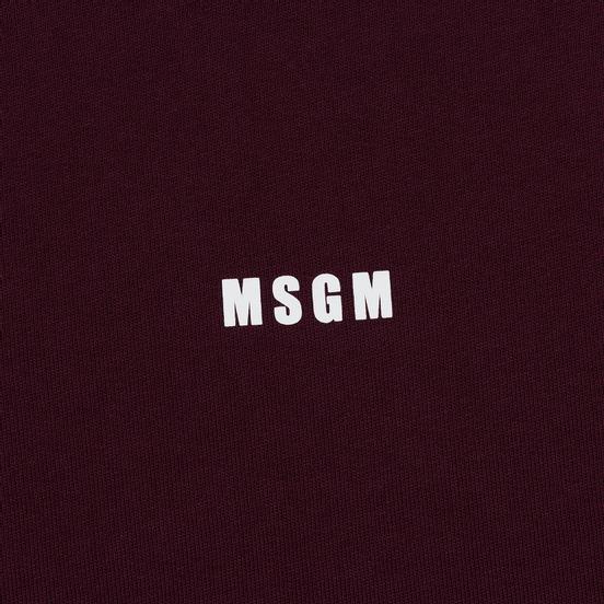Мужская водолазка MSGM Micro Logo Burgundy