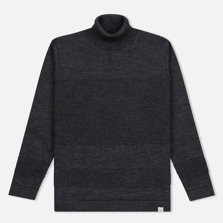 Мужская водолазка Norse Projects Skagen Roll Neck Wool Charcoal