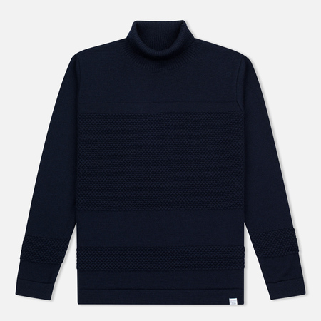 Мужская водолазка Norse Projects Skagen Roll Neck Wool Navy
