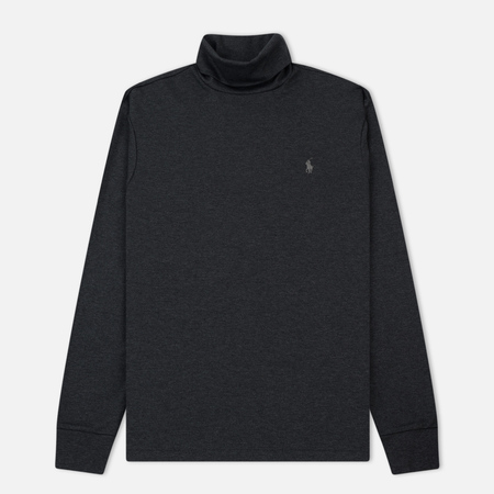 Мужская водолазка Polo Ralph Lauren Classic Turtle Neck Soft Touch Dark Grey Heather