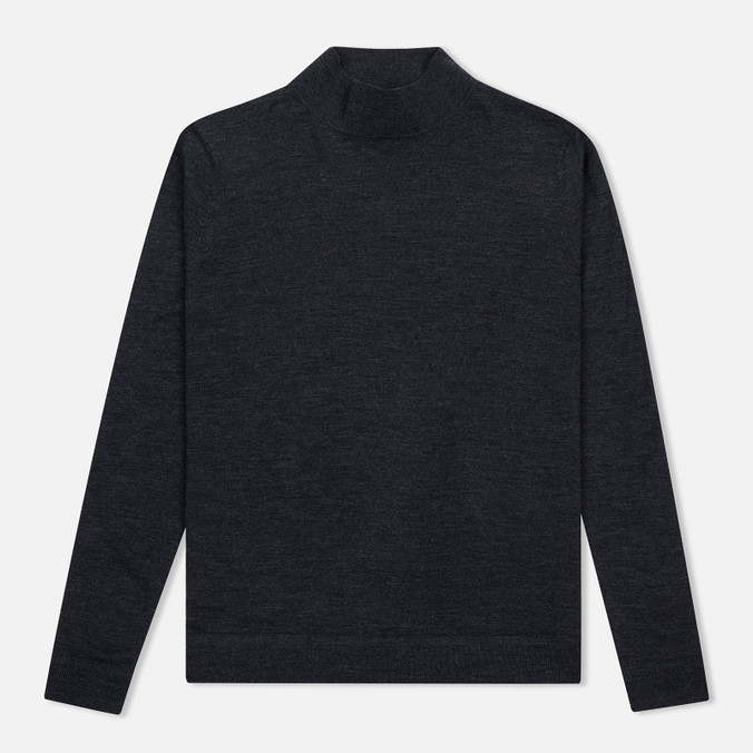 Мужская водолазка Pringle of Scotland Merino Solid Mock Neck Charcoal