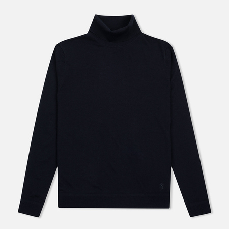 Мужская водолазка Pringle of Scotland Merino Solid Roll Neck Midnight