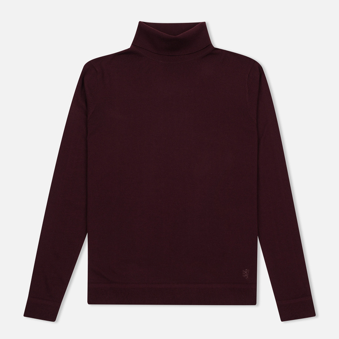 Мужская водолазка Pringle of Scotland Merino Solid Roll Neck Ox Blood