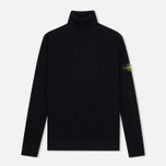 Мужская водолазка Stone Island Ribbed Turtle Neck Black фото- 0