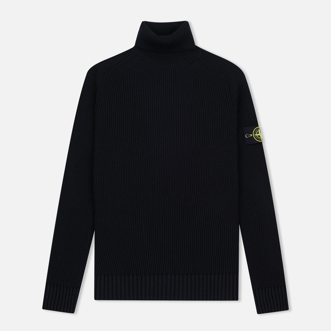 Мужская водолазка Stone Island Ribbed Turtle Neck Black