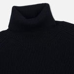 Мужская водолазка Stone Island Ribbed Turtle Neck Black фото- 1