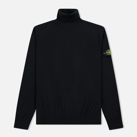 Мужская водолазка Stone Island Turtle Neck Lightweight Wool Black