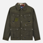 Мужская вощеная куртка Barbour x White Mountaineering Cusk Slim Wax Archive Olive фото- 0