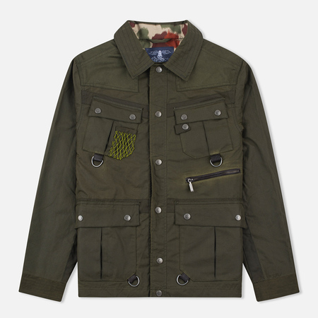 Barbour x White Mountaineering Cusk Slim Wax Archive Waxed Jacket Olive