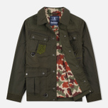 Мужская вощеная куртка Barbour x White Mountaineering Cusk Slim Wax Archive Olive фото- 1