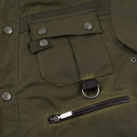 Barbour x White Mountaineering Cusk Slim Wax Archive Waxed Jacket Olive photo- 5