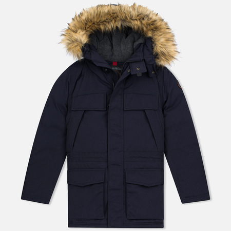 Napapijri Skidoo Open Long Men's Winter Jacket Blue Marine