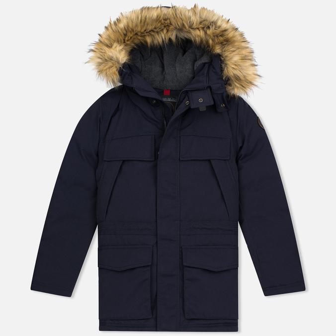 Мужская зимняя куртка Napapijri Skidoo Open Long Blue Marine