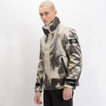 Мужская зимняя куртка Stone Island Ice Dyneema Bonded Leather Beige фото- 13