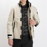 Мужская зимняя куртка Stone Island Ice Dyneema Bonded Leather Beige фото- 14
