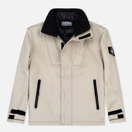 Мужская зимняя куртка Stone Island Ice Dyneema Bonded Leather Beige